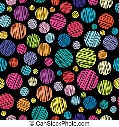 círculos, padrão, chocado, colorido, seamless