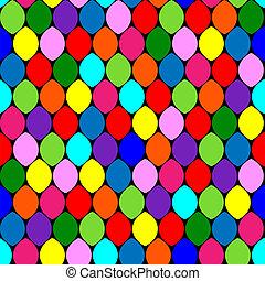 círculos, padrão, seamless, coloridos