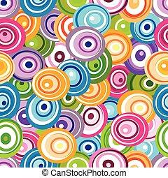 círculos, padrão, seamless, varicolored