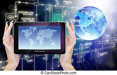 cósmico, computadores, tecnologia
