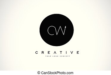 c, letra, pretas, texto, criativo, desenho, w, logotipo, branca, cw, vector.