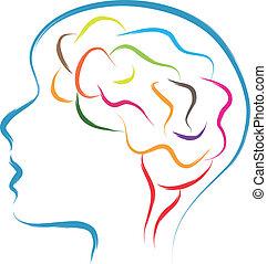 cabeça, cérebro