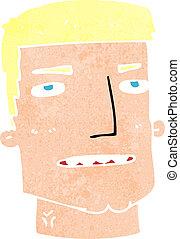 cabeça, macho, caricatura