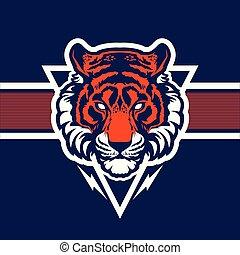 cabeça tigre, mascot.