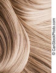cabelo, loura, textura