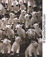 cabras, símbolo, 2015, novo, engraçado, ano, lote