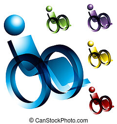 cadeira rodas, ícones