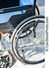 cadeiras rodas, nenhuma pessoas