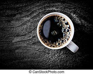 café, cheio, filtro, assalte, assado, fresco