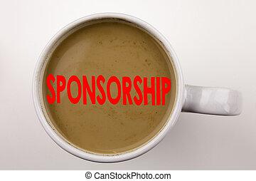 café, conceito, palavra, negócio, cup., palavra, word., space., patrocínio, nuvem preta, fundo, texto, escrita, branca, cópia, vermelho