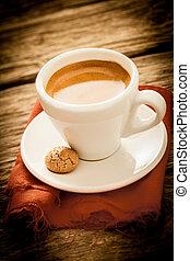 café, país, espresso, brewed, fresco, cozinha