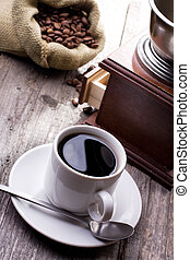 café, pretas, copo