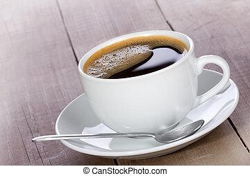café preto, copo