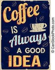 café, retro, always, bom, idéia