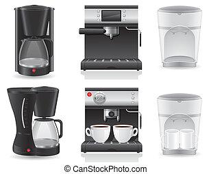 café, vetorial, fabricante, ilustração