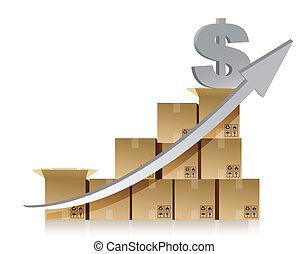 caixa, financeiro, dólar, gráfico