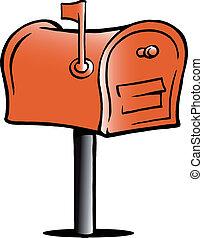 caixa postal, ilustração