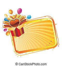 caixa, presente, celebração