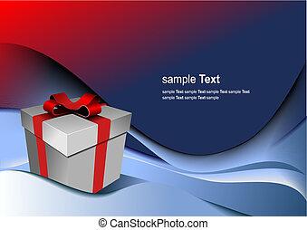 caixa, presente, holiday., ilustração, luminoso, vetorial, qualquer