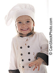 cake-baker, pequeno, sujo