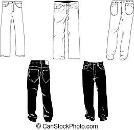 calças, modelo