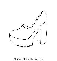 calcanhares altos, sapatos
