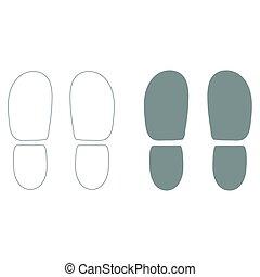 calcanhares, rastros, sapatos