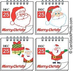 calendars., jogo, natal, cobrança