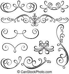 calligraphic, elementos