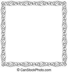 calligraphic, quadro, desenho, simples