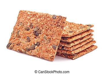 calorias, baixo, pão
