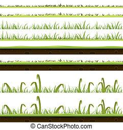 camadas, grama gramado, jogo