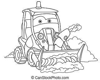 caminhão, arado, neve