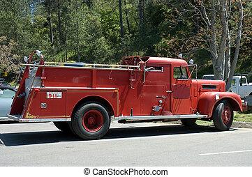 caminhão bombeiros, 3, antigas