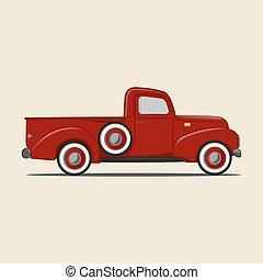 caminhão camionete, retro