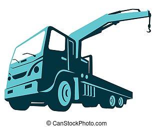 caminhão, crane-cartage-front-low