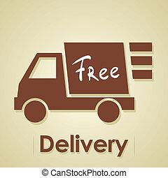 caminhão, delivery., livre