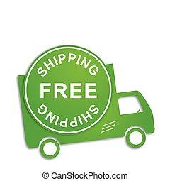 caminhão, livre, despacho