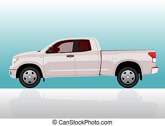 caminhão pick-up, grande