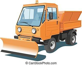 caminhão, snowplow