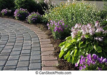 caminho, jardim