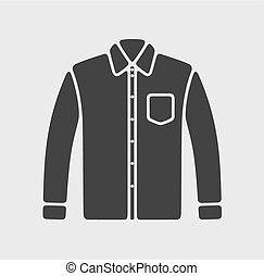 camisa, ícone