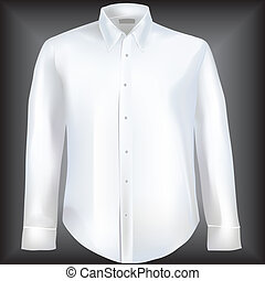 camisa, mangas, longo