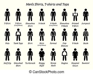 camisas, homens, tops., camisetas