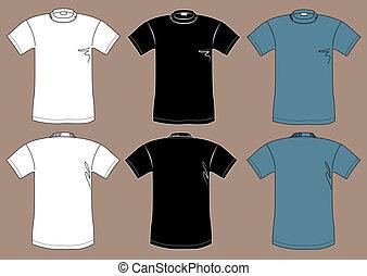 camisetas, modelo, desenho