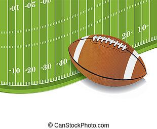 campo, americano, bola, fundo, futebol