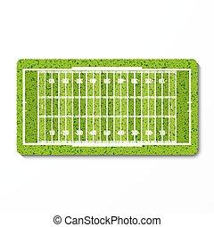 campo, americano, capim, futebol americano verde