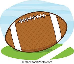 campo, bola futebol americano americana