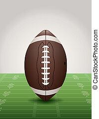 campo, futebol americano, capim, ilustração