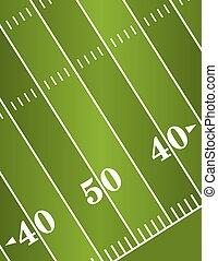 campo, futebol americano, diagonal, fundo